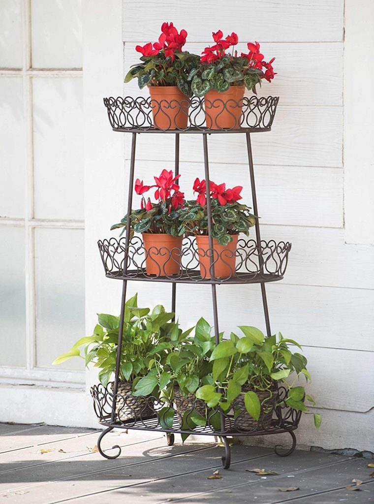 Tall Metal Baskets for Flower Pots