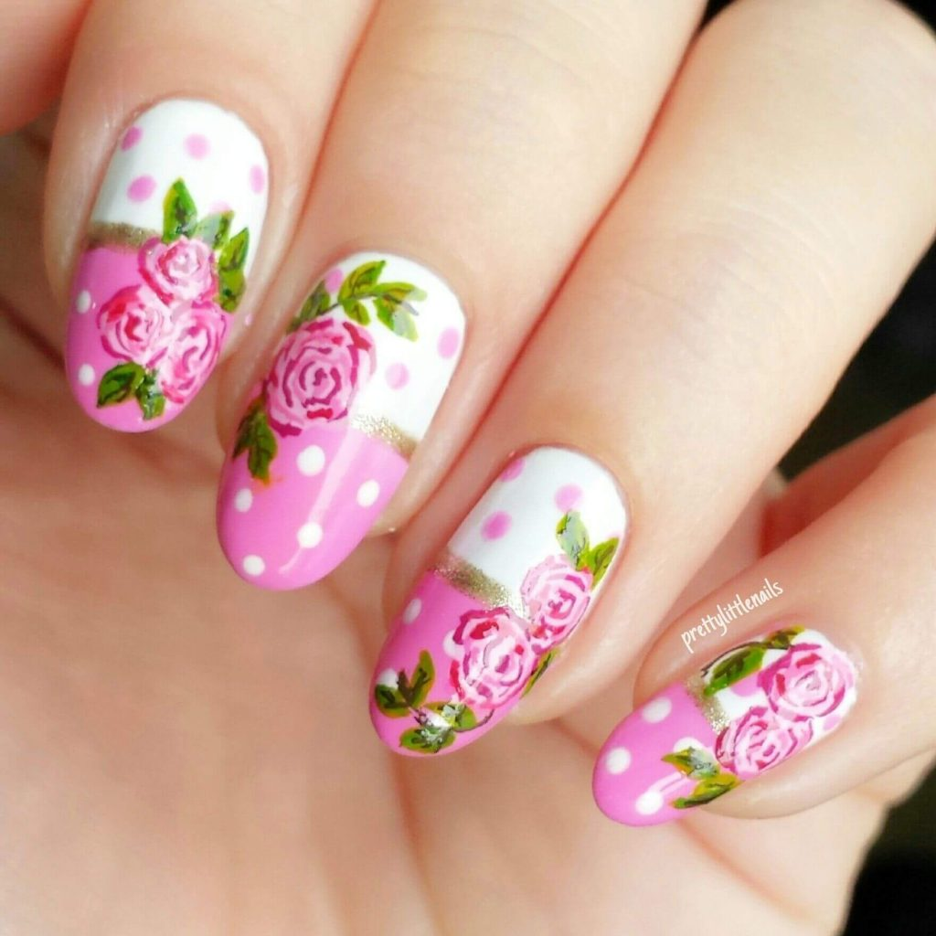 Mini Flower Nail Art